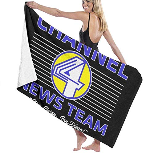 ENZOOIHUI Hombre Channel 4 News Team Logo Toalla de baño Toalla de Playa 80X130 Cm