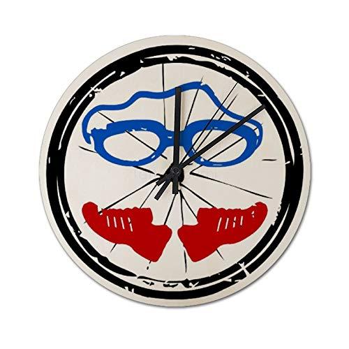 Pealrich - Orologio da parete silenzioso da 25 x 25 cm, con logo Triathlon Freak, per casa, ufficio, scuola, cucina, camera da letto, soggiorno