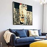 VGSD Las Tres Edades De La Mujer Pinturas De Arte De Pared Gustav Klimt Famoso Lienzo Impresiones Artísticas Reproducciones Carteles para Sala De Estar Cuadros 50X50Cm