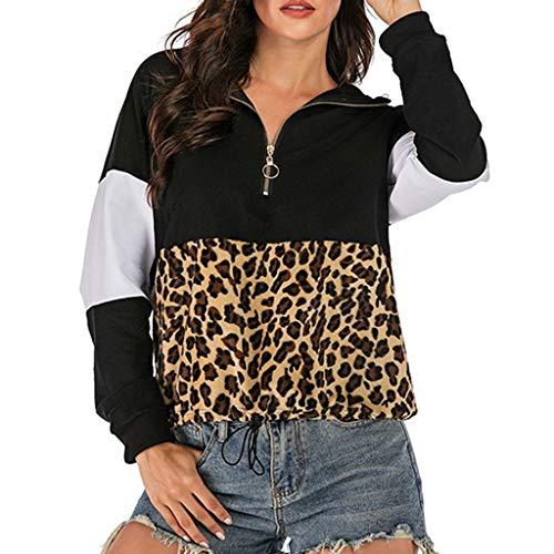 Luckycat Sudaderas con capucha para Mujer, de Manga Larga con Banda Elástica y Cremallera Mujer Sudadera Caliente y Esponjoso Tops Chaqueta Suéter Abrigo Jersey Mujer Hoodie