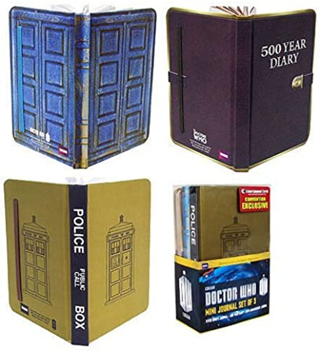 Doctor Who Mini-Journal Set of 3 - Convention Exclusive by Bif Bang Pow