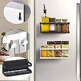 Hängeregal für Kühlschrank Kühlschrank Regal Magnet Montage Gewürzregal mit Ablage Haken...