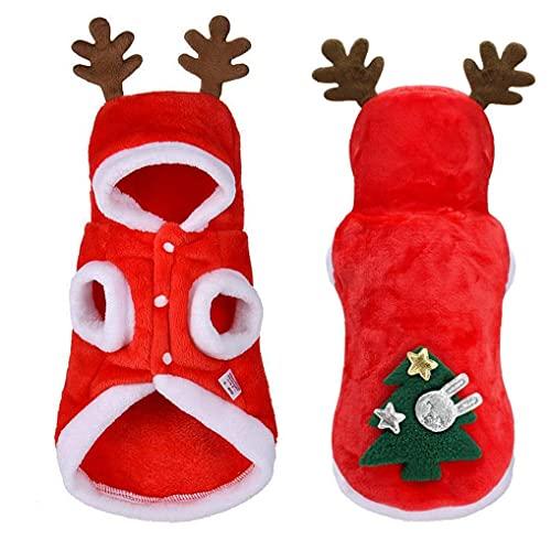 Ruluti Ropa Perro Navidad Perros Pequeos Pap Noel Disfraz Pug Chihuahua Yorkshire Pet Cabra Compaa Compa Mackets