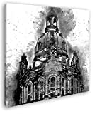 Illustration der Dresdner Frauenkirche Format: 60x60