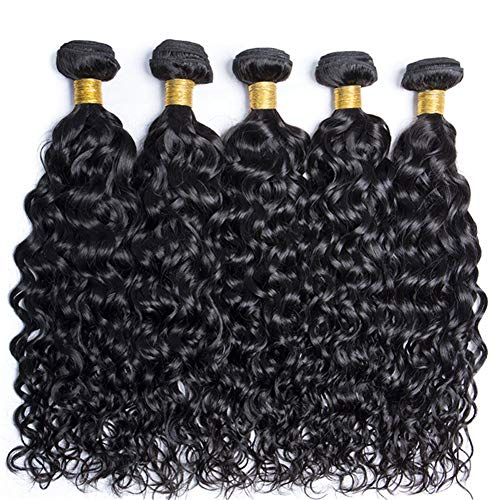 FW Hair 8A Brazilian Water Wave Bundles 14 16 18 20inches Virgin Unprocessed Wet and Wavy Human Hair Bundles Brazilian Water Wave Hair 4 Bundles Weave Jet Black