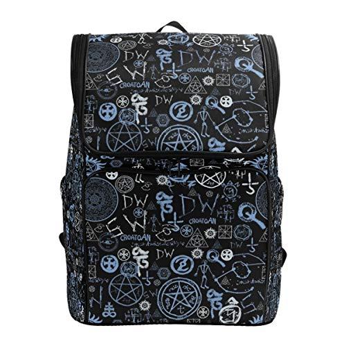 Mysterious Supernatural Symbol Rucksack Wandertaschen Rucksack für Mädchen Jungen