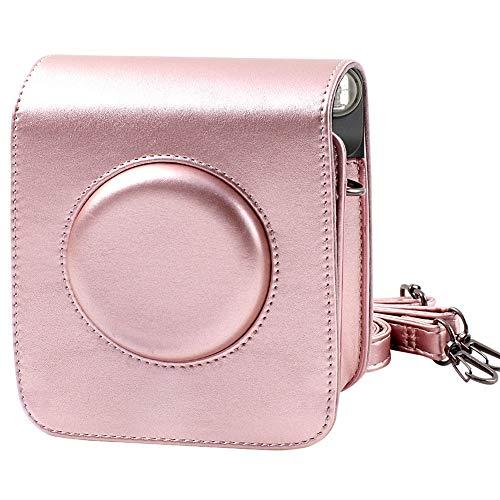 Schutzhülle Tasche für Fujifilm Instax Square SQ6 Sofortbildkamera mit verstellbarem Gurt - Rose Gold von SAIKA