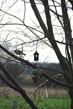 Esschert Design Futterfeder, Vogelfutter-Spirale, Halterung für Futterball Oder Futterkugel, Design Sortiert, 1 Stück