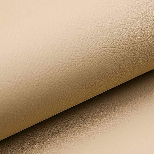 NOVELY® Soltau | 1 lfm | weiches Kunstleder PU Premium Qualität Polsterstoff mehr als 100.000 Touren Echtleder-Optik Möbelstoff (01 Kamel Beige)