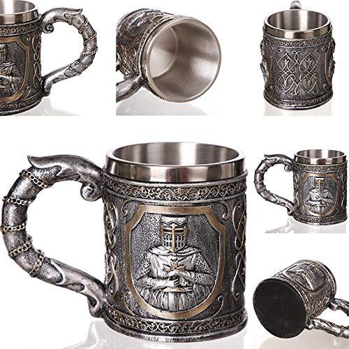 1 Stks Creatieve Schedel Mok 450 ml /15 oz Viking Ram Gehoornde Pit Lord Warrior Bier Stein Tankard Koffie Mok Thee Cup Halloween Bar Gift