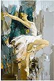 Cuadros abstractos modernos Bailarina Bailarina Pintura en lienzo Artista famoso Pintado abstracto Ballet Chica Pintura de pared Moderno 70x90cm sin marco