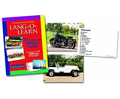 Stages Learning Materials Vehicles 14 Poster Cards by Stages Learning Materials