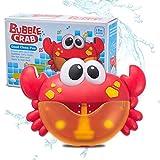 Wusuowei New Crab Seifenblasen Maschine,Seifenblasen Bubble Machine Seifenblasenmaschine Automatische Baby-Badespielzeug