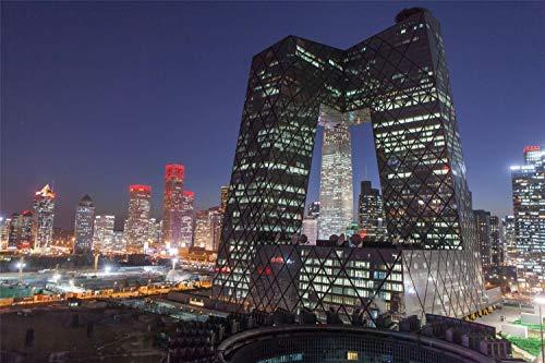 1000 Piezas De Rompecabezas Para Adultos Cctv Building Beijing China Montaje De Madera Decoración Para El Hogar Juego De Juguetes Juguete Educativo Para Niños Y Adultos