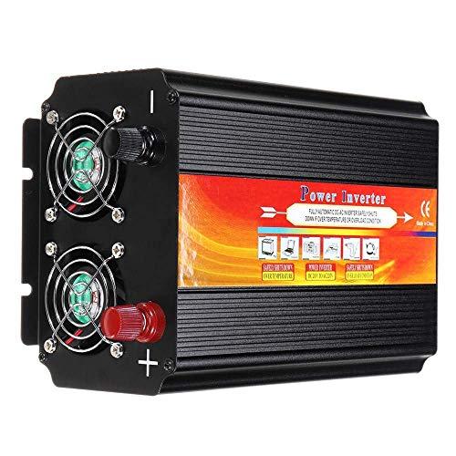 KPL Wechselrichter Reiner Sinus 8000W Auto Power Inverter 12 / 24V bis 110 / 220V Sinus-Konverter mit Blade-Sicherungen mit 2 Lüftern Leistungsinverter Reiner Sinus