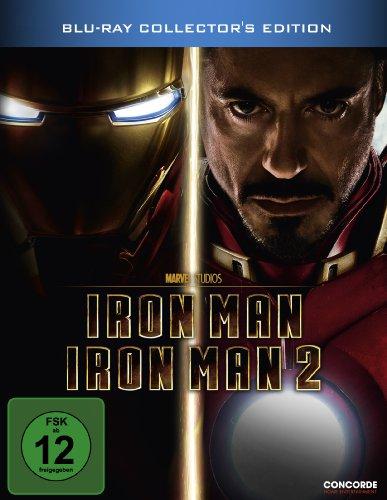 Iron Man / Iron Man 2 (Steelbook) [Blu-ray] [Collector's Edition]