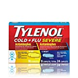 Tylenol Cold + Flu Severe Day & Night Caplets for Fever, Pain, Cough &...