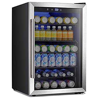 Antarctic Star Beverage Refigerator -145 Can Mini Fridge for Soda Beer or wine,Small Drink Dispenser, For Office or Bar with Adjustable Removable Shelves?4.5 Cu. Ft. BLACK