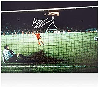 Autographed Alan Kennedy Photo - Liverpool Scoring Penalty - Autographed Soccer Photos