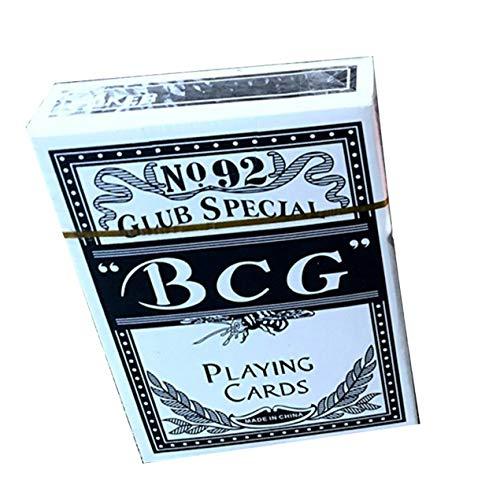 DBSUFV BCG Naipes de póquer portátiles duraderos Naipes mágicos Mejor Regalo prácticos Juegos de Mesa de Juego