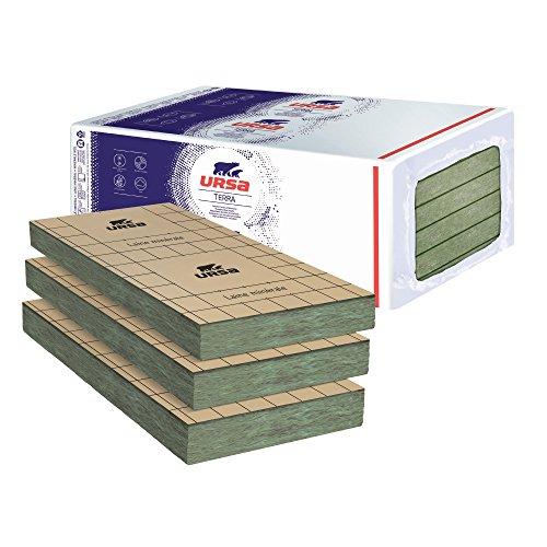 - Isolation murs par l'intérieur - 16 Panneaux laine de verre URSA PRK 38 TERRA revêtu kraft - Ep. 45mm - 12,96m² - R 1.20