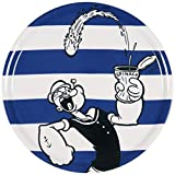 Excelsa Popeye - Plato para pizza (porcelana, 31 cm), color azul