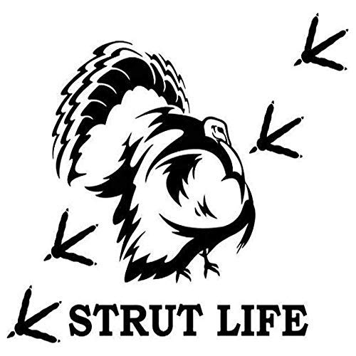 2pack 3' Sticker -Strut Life Sportsman Turkey Hunting Printed Decal Scrapbook Sticker - Perfect Size for Cell Phone Covers