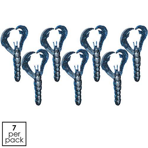 Strike King RGCRW-142 Rage Tail Craw, 4-Inch, Blue Bug, 7-Per Package