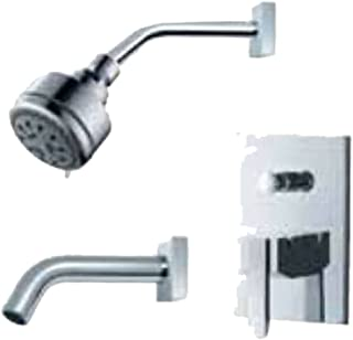 Fluid Faucets F2020BN-T Penguin Pressure Balancing Bathtub and Shower Faucet, Brushed Nickel, 1-Pack