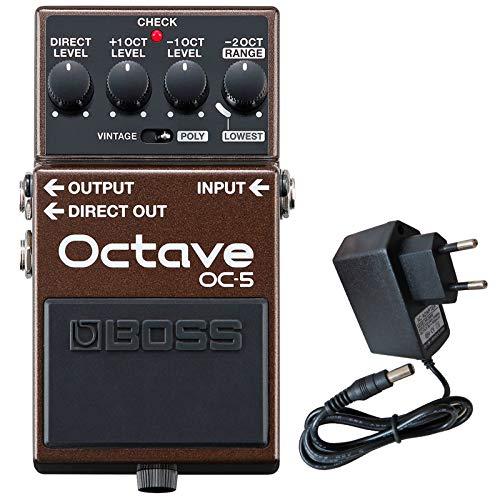 Boss OC-5 Oktave Pedal Effektgerät Octaver + keepdrum 9V Netzteil