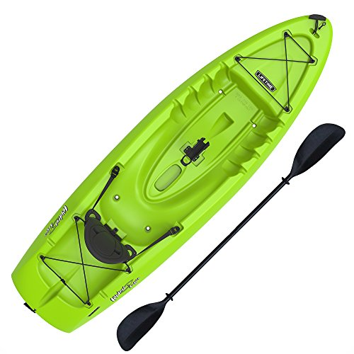 Lifetime Hydros Angler 85 Fishing Kayak (Paddle Included), Lime Green