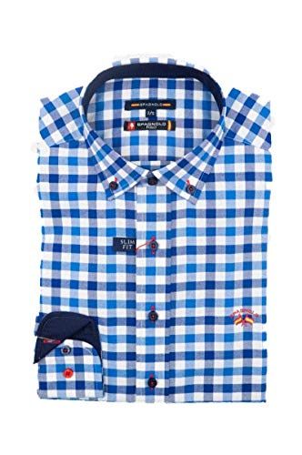 SPAGNOLO PAUL & ESTHER Camisa con Boton Oxford Slim...