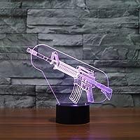 カラフルな銃3DライトカラフルなタッチLEDビジュアルライトギフト雰囲気装飾テーブルランプ