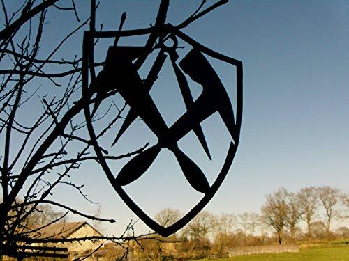 Metall-Design-Dithmarschen Dachdecker in Wappenform - Innungsschild, Zunftzeichen 40-90cm (40cm)