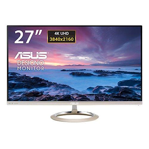 Asus MX27UC 68,8 cm (27 Zoll) Monitor (4K, HDMI, DisplayPort, 5ms Reaktionszeit) schwarz/gold
