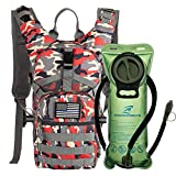SHARKMOUTH Tactical MOLLE Hydration Pack Backpack 900D with 2L Leak-Proof Water Bladder, Keep...