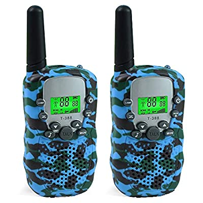 Joyfun Walkie Talkies for Kids, Gifts for 5-10 Year Old Boys Long Distance 22 Channels Teens Hiking with Flashlight Camping Outdoor Activities Toy for 5 6 7 8 Year Old Boys Toddler Blue by Joyfun