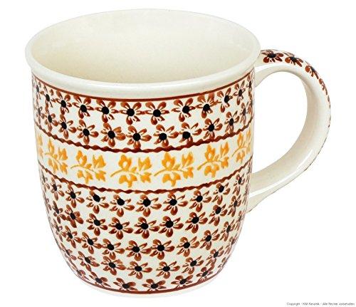 Original Bunzlauer Keramik Kaffee Becher V=0,35 Liter im Dekor 973