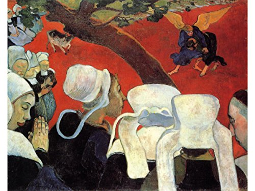 The Vision After The Sermon (Jacob Wrestling with The Angel) by Paul Gauguin