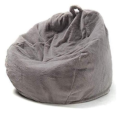 yxx Bohnenbeutel-Stuhl-Sofa-Cover ohne Füller, Winter-Faule Liege künstliche Kaninchen-Pelz-Bohnenbeutel Aufbewahrungsstuhl mit Griff for Erwachsene und Kinder (Size : 90x110cm(35x43inch))
