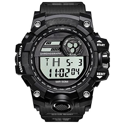 WTYU Reloj Automático Hombre, Relojes Electrónicos Deportivos Multifuncionales, Reloj De Pulsera De Ocio Digital Impermeable, para Hombres/Mujeres/Adolescentes C