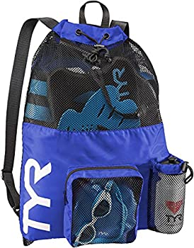 TYR Big Mesh Mummy Backpack for Wet Swimming Gym and Workout Gear Royal One Size