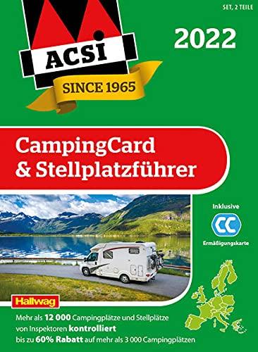 ACSI CampingCard & Stellplatzführer 2022: Bestehend aus 2 Bänden inkl. ACSI CampingCard Ermässigungskarte und ACSI Camping Europa-App Rabattcode (Hallwag ACSI Führer)