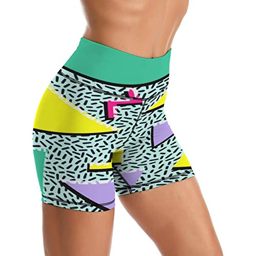 Women's 80s Graphic Yoga Compression Shorts