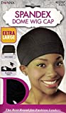 Donna Spandex Dome Wig Cap Black 22537 Extra Large Ultra Stretch Breathable