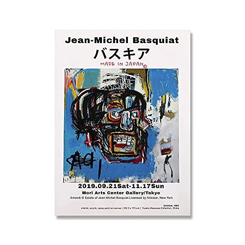 Lienzo de arte de pared Jean Michel Basquiat Graffiti Artista moderno Pinturas en lienzo para dormitorio Lienzos e impresiones de imágenes para sala de estar Decoración del hogar