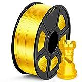 SUNLU PLA Filamento 1.75mm Silk Oro, Stampante 3D Filament PLA 1kg Spool, Tolleranza del diametro +/- 0,02 mm PLA Silk Gold