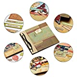 DIY Scrapbook Kits for Kids and Adults, Vintage Hardcover Removable Scrapbook Including Stickers, Ribbons, Ideal Gifts to Friend, Boyfriend, Girlfriend for Birthday, Christmas, New Year (Style A)
