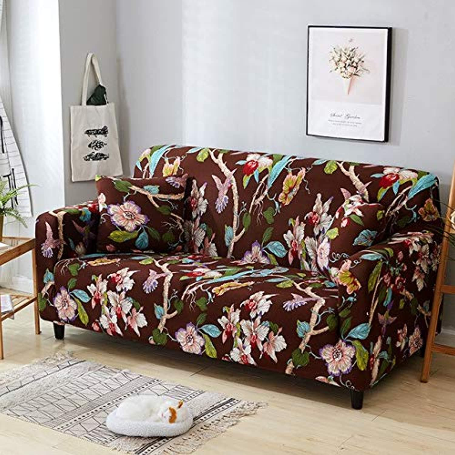 Elastic Sofa Tight Wrap All-Inclusive Slip-Resistant Sofa Cover seat Couch Covers Sofa Towel Single Two Three Four-Seater   5815, 2 Seater 140-185cm