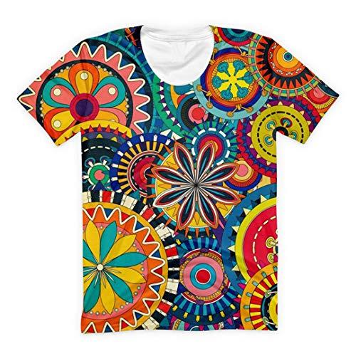Psychedelisches Pilz-T-Shirt Frauen-Mann-Sommer-Top mit Rundhalsausschnitt Short Sleeve Schräge Street Wear 4 5XL